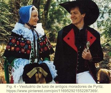 Trajes tradicionais de danças na antiga Pomerânia 4