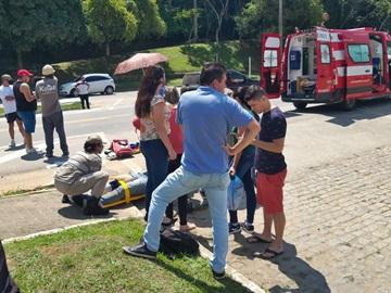 Colisão entre moto e carro de passeio deixa ferido um homem em Marechal Floriano 2