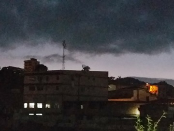Tempo fechado e ameaça de temporal em Marechal Floriano