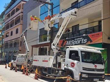Troca de peças encerra perigo de queda de cabos elétricos em Marechal Floriano 2