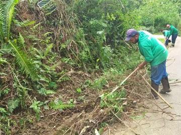 Estrada do interior de Alfredo Chaves recebe limpeza e trechos viram jardins