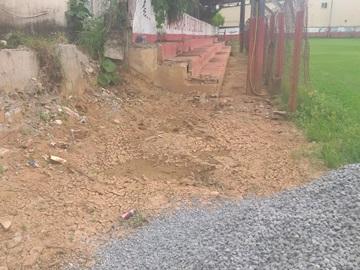Arquibancada de campo em Marechal Floriano destruída pelas tempestades será recuperada