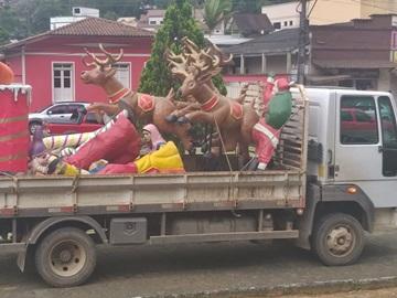 Continuam os preparativos do Natal Luz em Marechal Floriano