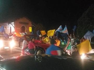 Eleitores de Cacau Lorenzoni comemoram mais uma vitória na eleição para prefeito em Marechal Floriano