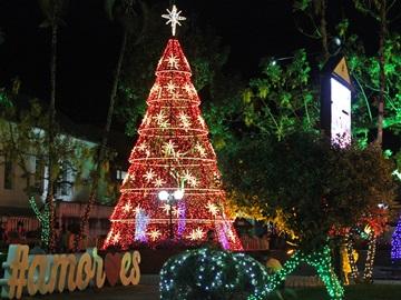 luminação do Brilho de Natal já está acessa em Domingos Martins