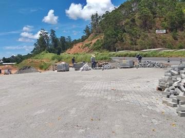 Calçamento do Trevo de Paraju em Marechal Floriano será concluído em janeiro