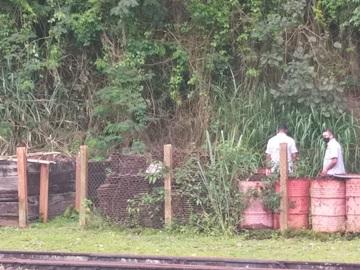 Equipe da antiga ferrovia fiscaliza peças e imóveis em Marechal Floriano 2