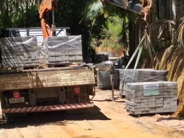 Obras modernas de calçamento de piso têm continuidade após chuvas fortes em Marechal Floriano 2