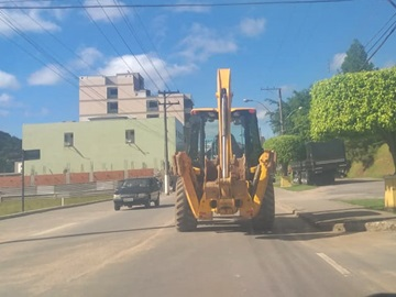 Animais podres são cobertos com terra pela Prefeitura de Marechal Floriano