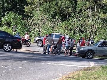 Motociclista morre ao bater em caminhão que atravessava a BR 262