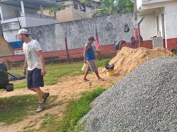 Muro e vestiário de campo de futebol que foram destruídos serão reformados em Marechal Floriano