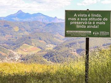 Pontos turísticos de Venda Nova recebem sinalização ambiental