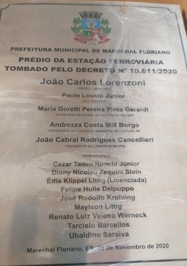 Museu da Imigração de Marechal Floriano recebe placa de imóvel tombado como patrimônio histório