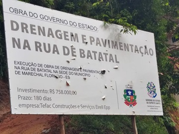 Obra de drenagem e pavimentação de estrada em Marechal Floriano concluída