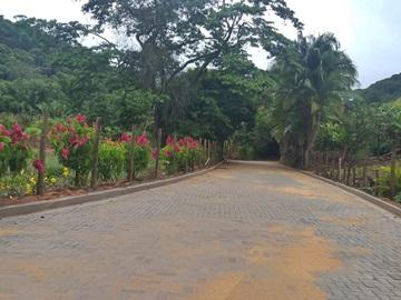 Obra de drenagem e pavimentação de estrada em Marechal Floriano concluída 2
