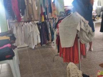 Boas vendas no Mega Bazar Beneficente da Sou Feliz em Marechal Floriano
