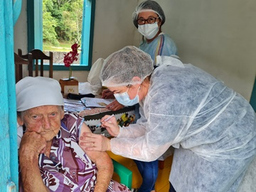 Covid 19 Domingos Martins é o município com a maior porcentagem de vacinas aplicadas no Estado