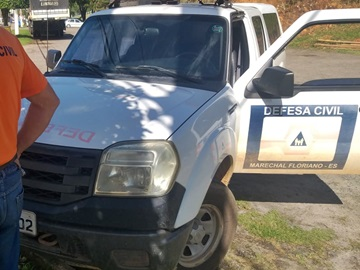 Defesa Civil acompanha trabalhos de recuperação de estradas em Marechal Floriano
